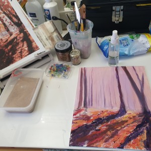 Autumn Abstract - Acrylic on Canvas - Woodland