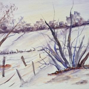 Snow Scenes - Acrylic as a Watercolour